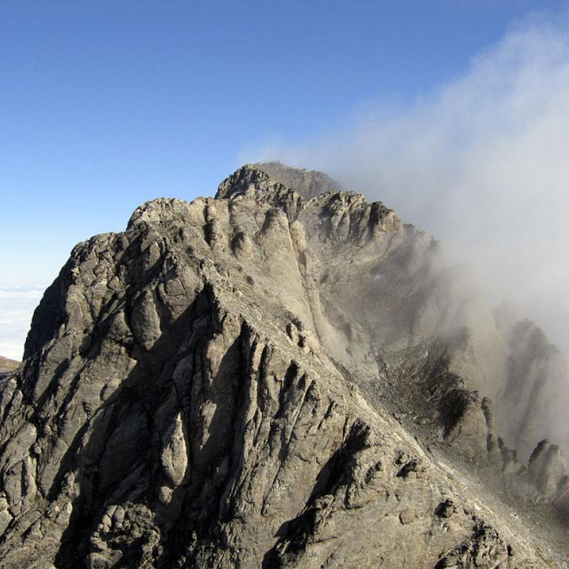 Mytikas - nejvyšší vrchol Řecka. 2917 metrů.