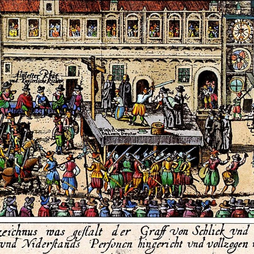 Další vyobrazení popravy na Staroměstském náměstí