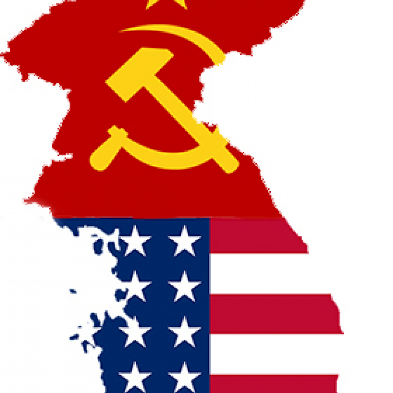 Rozdělená Korea. Sever podporovaný SSSR a jih USA.