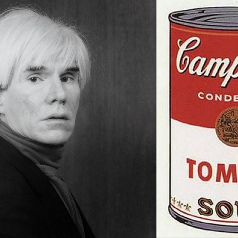 Andy Warhol a polévka od Campbell Soup Company.