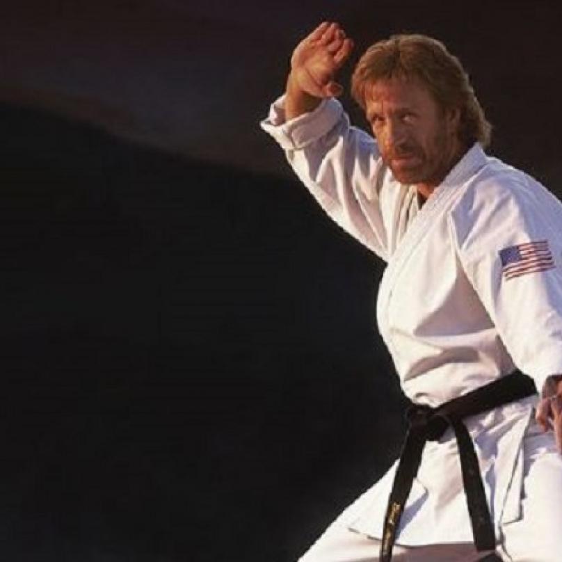Chuck Norris ovládá hned několik bojových umění a jedno i sám vymyslel. Ve všech má černý pásek.