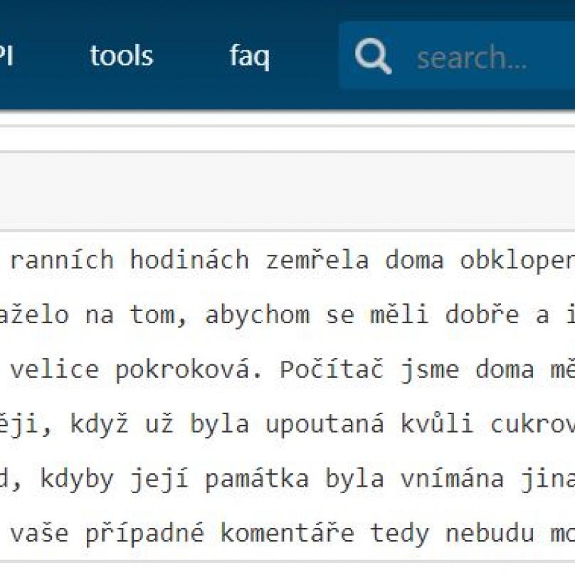 Text údajného vnuka Věry Pohlové. Dle badatelů v oboru Pohlologie se ale jedná o podvrh.