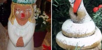 Jsou hezké vánoční ozdoby, jsou kýčovité vánoční ozdoby... A pod tím vším jsou věci, nad kterými zůstává rozum stát.