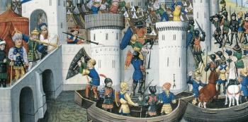 Při čtvrté křížové výpravě do Svaté země byla dobyta i Konstantinopol.
