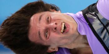 Krasobruslaři jsou extrémně soustředění sportovci, výraz tváře si tedy zrovna nehlídají.