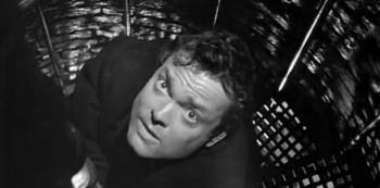 """Welles """"pouze"""" jako herec v oskarovém snímku Třetí muž. Scénář napsal slavný britský spisovatel Grahem Greene"""