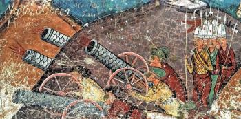Staré 'vandalské' nápisy na ještě starších freskách najdete v kostelích v rumunské Bukovině. Pád Konstantinopole, zdobený vedle jiných i podpisy polských lamačů soli, uvidíte v kostele kláštera Moldovița, jiné pak v klášteře Sucevița (oba v UNESCO).