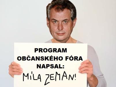 Miloš Zeman prý úplně sám napsal program Občanského fóra. Škoda, že ostatní z OF si to pamatují jinak.