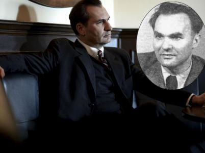 Ve filmu Ondřeje Trojana hraje Zdeňka Tomana (v medailonu) Jiří Macháček.