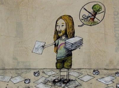 Dran a Banksy mají společné téma i umělecký prostředek.