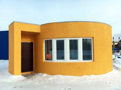 Co je na tomhle domku neobvyklého? Jedná se o první dům vytisknutý na 3D tiskárně.
