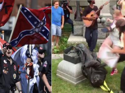 Na jedné straně neonacisté a Ku Klux Klan, na druhé straně rozběsněný dav příznivců krajní levice. Toto není souboj dobra se zlem, ale střet dvou odlišných zbytečných extremismů.