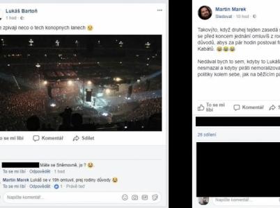 Místo zasedání sněmovny koncert Kabátů? Aktivista Marek se na Facebooku opřel do poslance Bartoně.