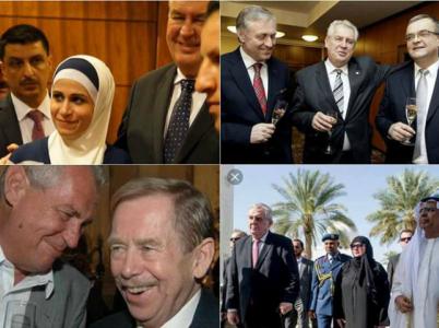 S Merkelovou, s Kalouskem, s Havlem. Na Facebooku se objevují fotky Zemana se všemi, které jeho voliči nenávidí.