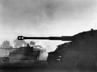 Německé tanky Tiger útočí