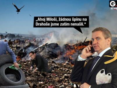 Umělec TMBK vtipně zareagoval na druhé kolo prezidentských voleb v duelu mezi Milošem Zemanem a Jiřím Drahošem