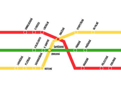 Nové názvy zastávek pražského metra podle redakce G.cz.