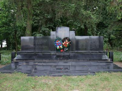 Památník českým rodinám z vesnice Český Malín