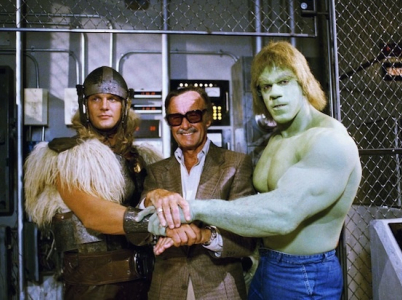 Stan Lee s Hulkem a Thorem.