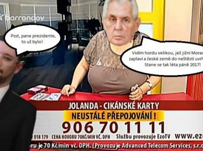 Miloš Zeman si myslí, že vidí do budoucnosti, jak se ukazuje, jeho zrak je naštěstí dosti zastřený.