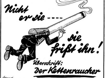 """Poselství je jasné - pro Hitlera bylo kouření """"genetickým jedem"""""""