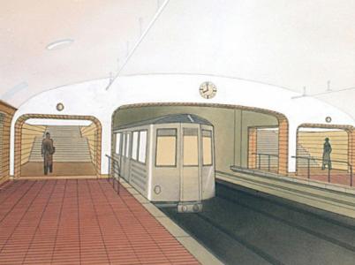 Stanice Radnice (myšleno ta Staroměstská) z roku 1939