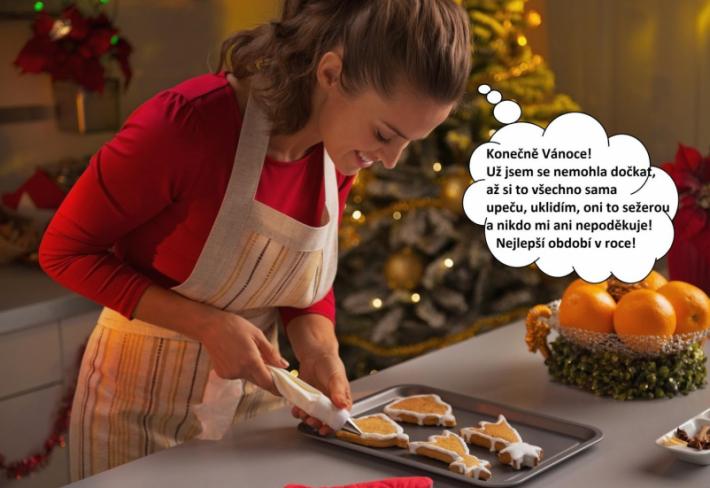 Vánoce jsou pro většinu lidí svátky klidu, pro ženy ale oslavou práce a stresu. A milují to!