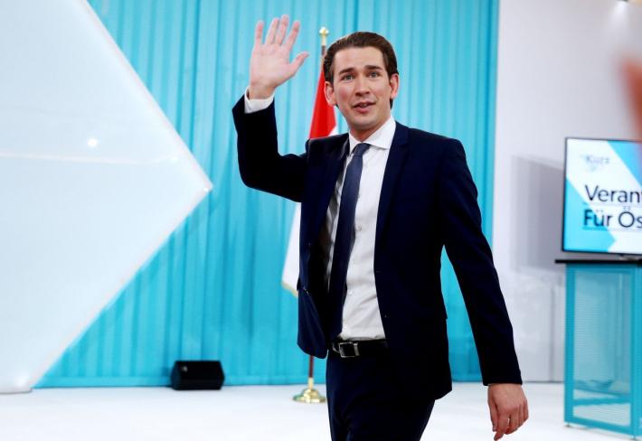 Jednatřicetiletý Sebastian Kurz zvítězil v rakouských volbách a stane se nejmladším kancléřem.