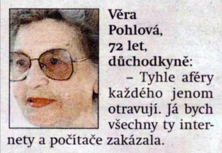 Věra Pohlová - legenda těch internetů již 18 let