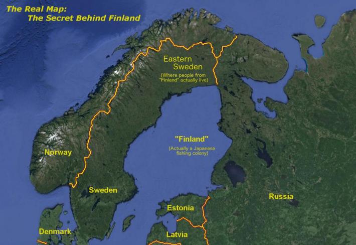Finsko ve skutečnosti neexistuje, tady je 'důkaz'