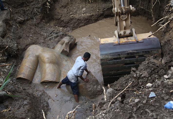 Ramesse II. věřil, že svět byl stvořen v Heliopolis (dnes známé jako chudinská čtvrť Matariya), kde byla socha také nalezena.