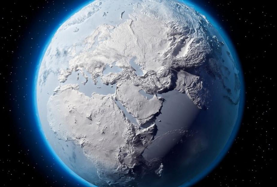 Tohle je samozřejmě jen ilustrační nadsázka. Ve skutečnosti se budou od obou zemských pólů směrem k rovníku rozprostírat obří sněhovo-ledové 'čepice'.