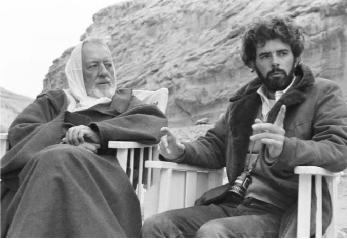 George Lucas (vpravo) je duchovním otcem Star Wars. Bez jeho totálního nasazení by ale kult asi vůbec nevznikl.