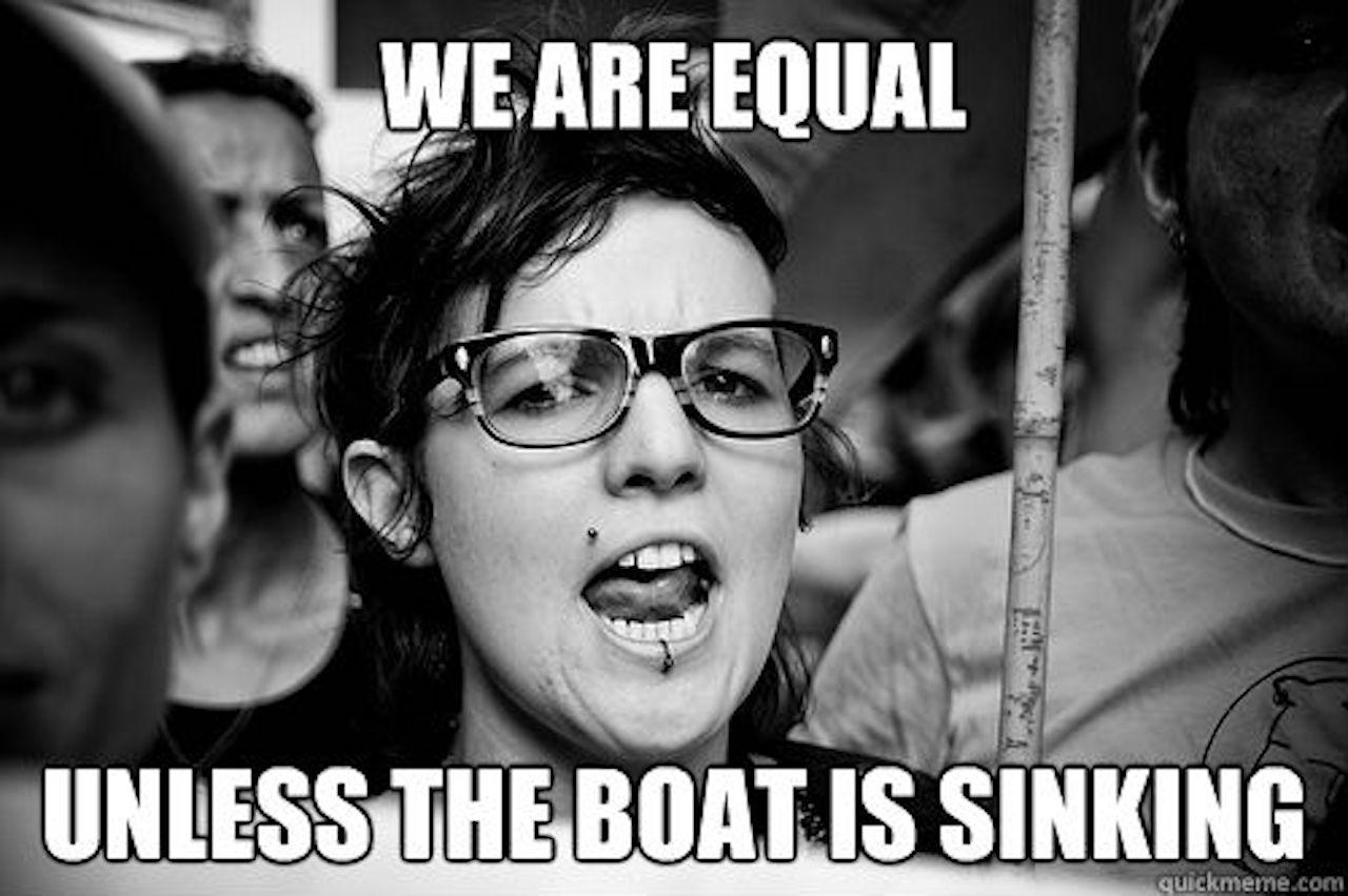 """""""Máme stejná práva, pokud se zrovna nepotápí loď, protože pak máme přednost."""""""