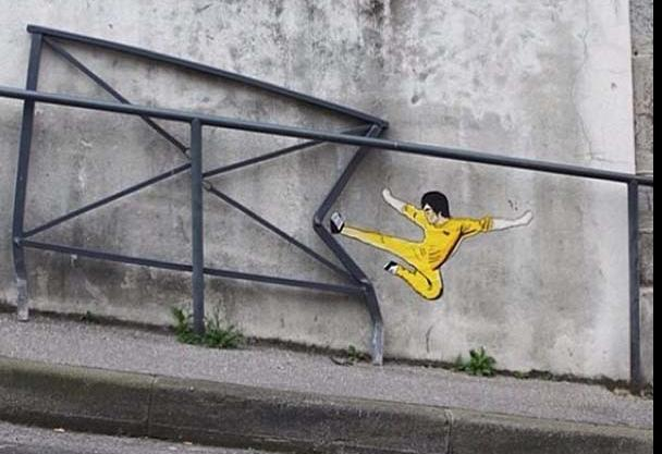 Ulice jsou plné umění. Bruce Lee.