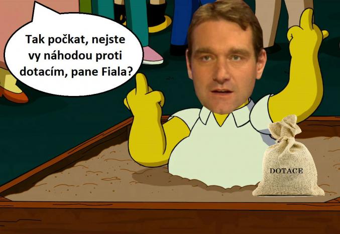 Vztah Radima Fialy (SPD) k dotacím je komplikovaný. Miluje je a zároveň nenávidí.