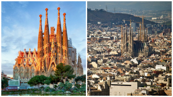 1. Sagrada Família -  Barcelona, Španělsko