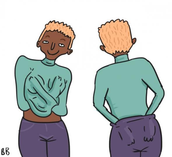 3) Strkají si studené ruce na prsa, zadek a mezi nohy!