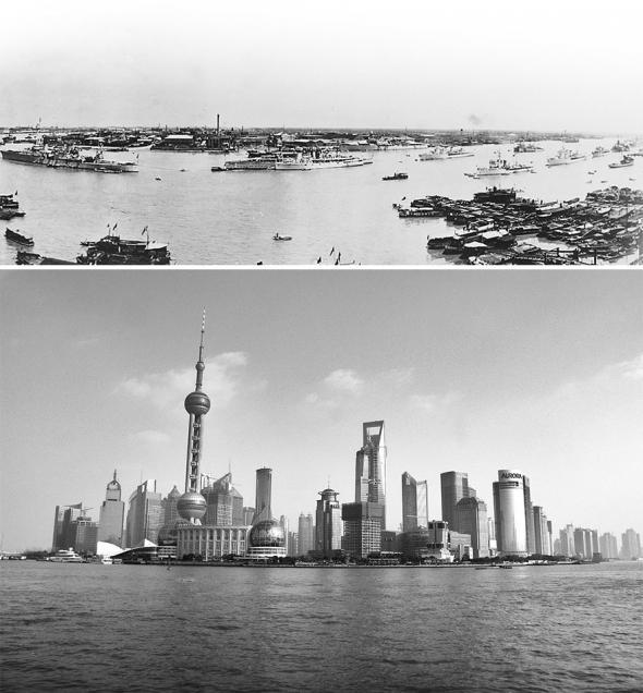 1. Šanghaj v roce 1920 a 2009
