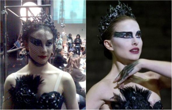 2. Natalie Portman a její taneční dablérka Sarah Lane v Černé labuti