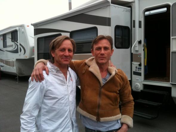3. Daniel Craig s dvojníkem Garvinem Crossem