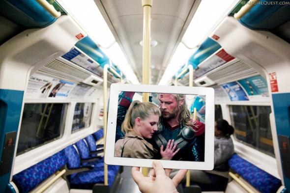 2. Thor: Temný svět — londýnské metro