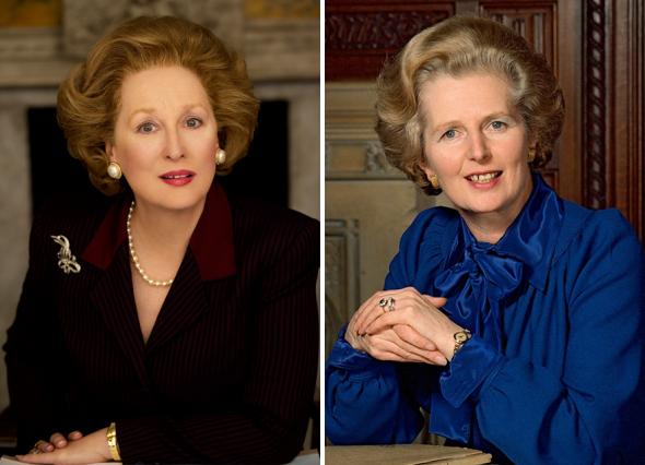 1. Meryl Streep jako Margaret Thatcher ve filmu Železná lady (2014)