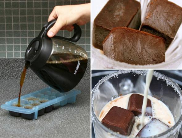 1. Ledové kávové kostky - ideální letní osvěžení