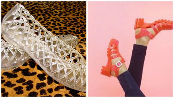3. Plastové sandálky