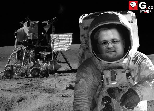 4. A pak si mě všimli v Hollywoodu a obsadili mě do krátkého filmu, který se jmenoval Přistání na Měsíci.