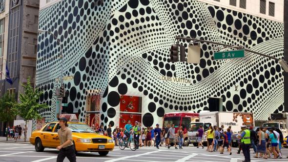 1. Horní část newyorské Páté avenue (USA) - 29 065,50 eur za metr čvereční na rok