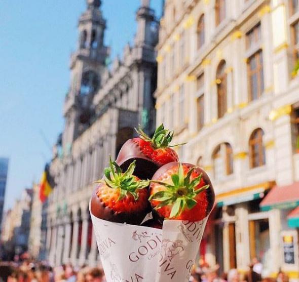 2. Jahody v čokoládě, Brusel, Belgie