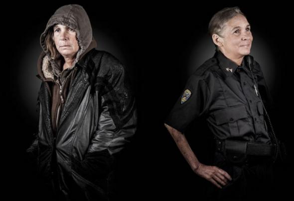 Z bezdomovkyní policistkou!
