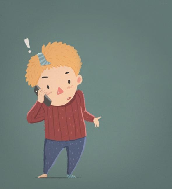 2) Volají mamince a stěžují si